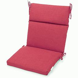 Blazing Needles Spun Polyester Solid Outdoor Squared Seat/Ba
