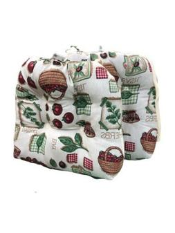 Square 14 X14 Chair Seat Cushion Pads with Ties Kitchen Dini