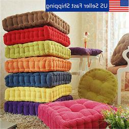 Square Corduroy Chair Pad Cushion Thicker Patio Car Office S