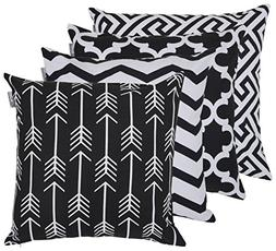 Accent Home Square Printed Cotton Cushion Cover ,Throw Pillo