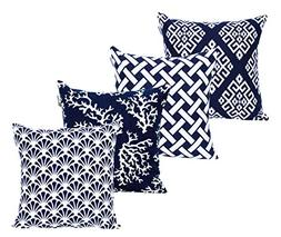 ACCENTHOME Square Printed Cotton Cushion Cover,Throw Pillow