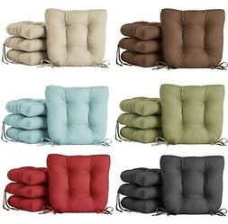 Square Seat Tuft Cushion Pads w/ Ties Kitchen Dining Room Ch