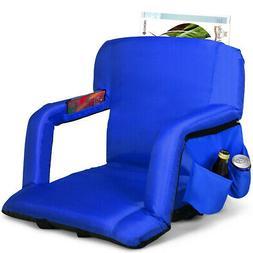 Stadium Seat Bleachers Portable Chair Reclining w/Backs and