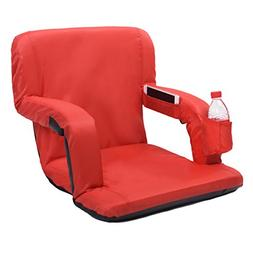 AceLife Stadium Seat Portable Reclining Bleacher Chair with