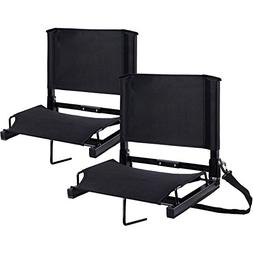 Stadium Seats Ohuhu Bleacher Chairs Seat with Backs and Cush