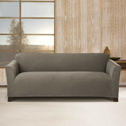 Sure Fit Stretch Morgan Knit Sofa Slipcover Gray / Grey Box
