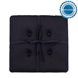 baibu Super Breathable Square Chair Pads Seat Cushions Black