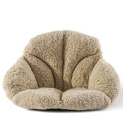 Hughapy Support Waist Backrest Pad Seat Cushion Cashmere Woo