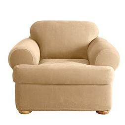 Sure Fit Stretch Pique Separate Seat Chair Slipcover - Cream