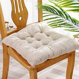 GAIHU Thicken Solid Color Seat Cushion,Cotton Chair Cushion