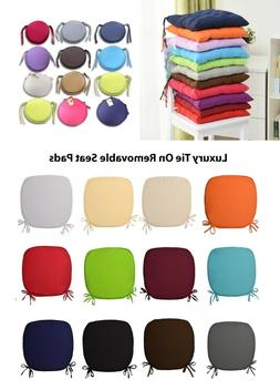 Tie On Chair Cushion Seat Pads for Dining Room Kitchen Offic