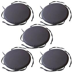 TOPmountain 5 pcs Circular Round Bistro Tie-on Kitchen Dinin