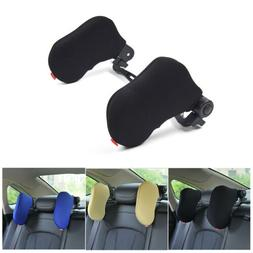 Travel Car Seat Headrest Pad Memory Foam Pillow Head Neck Re