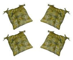 Set of 4 - Indoor / Outdoor Tommy Bahama Blue Green Tan Trop
