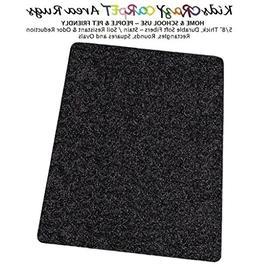 4'x12' - TUXEDO ~ Kids crAzy cArpET Home & School Area Rugs