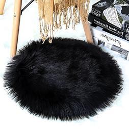 YOH Ultra Soft Seat Cushion Anti-Skid Fluffy Round Copy Wool