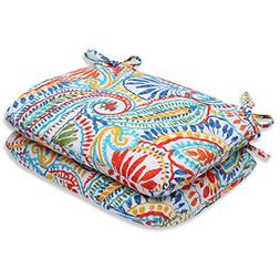 Pillow Perfect Outdoor Ummi Rounded Corners Seat Cushion, Mu