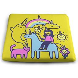 Unicorns Everywhere Memory Foam Seat Cushion - Comfortable S