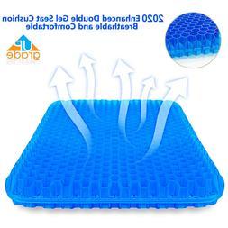 Cooling Gel Seat Cushion Memory Foam Coccyx Car Plane & Chai
