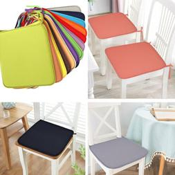 US 2Pc Cushion Seat Pads Indoor Home Dining Kitchen Office C