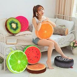 US 3D Print Fruit Round Office Chair Back Cushion Car Seat S