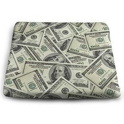 WEIPING LF USA $100 Dollars Money Memory Foam Seat Cushion,