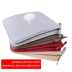 USA Removable Chair Cushion Seat Pads Patio Linen Tie On Din