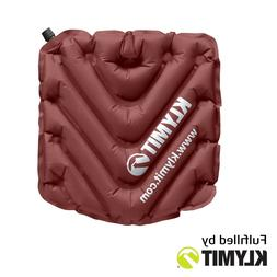 Klymit V Seat Camping Event Inflatable Seat Cushion Maroon -