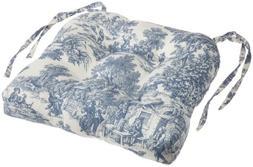 Ellis Curtain Victoria Park Toile Cushioned Chair Pad