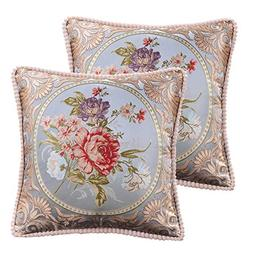 Loveliome Vintage Style Decorative Throw Pillow Cover, Flora