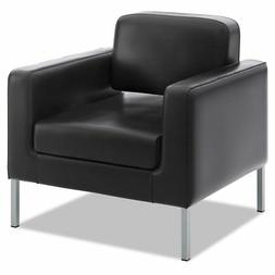 VL887 Lounge Seating Series Club Chair, Black Leather