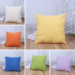 Waist Sofa Car Seat Cushion Cover Corn velvet Throw Pillow C