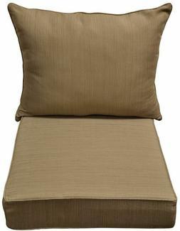 allen + roth Natural Wheat Texture Cushion Deep Seat Chair O