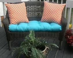 Wicker Loveseat Cushion Pillow Set-Cancun Altantis Blue & Or