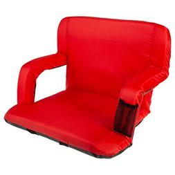 Home-Complete HC-3002-RED Wide Stadium Seat Chair Bleacher C